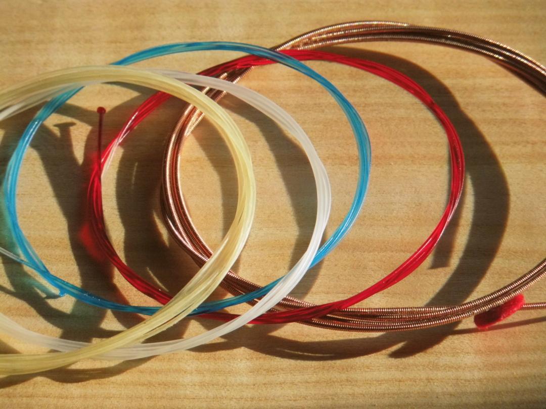 Cordes de harpe au détail