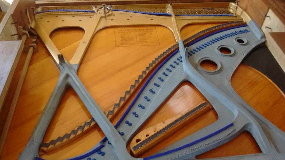 Structure harmonique après nettoyage et changement des feutres