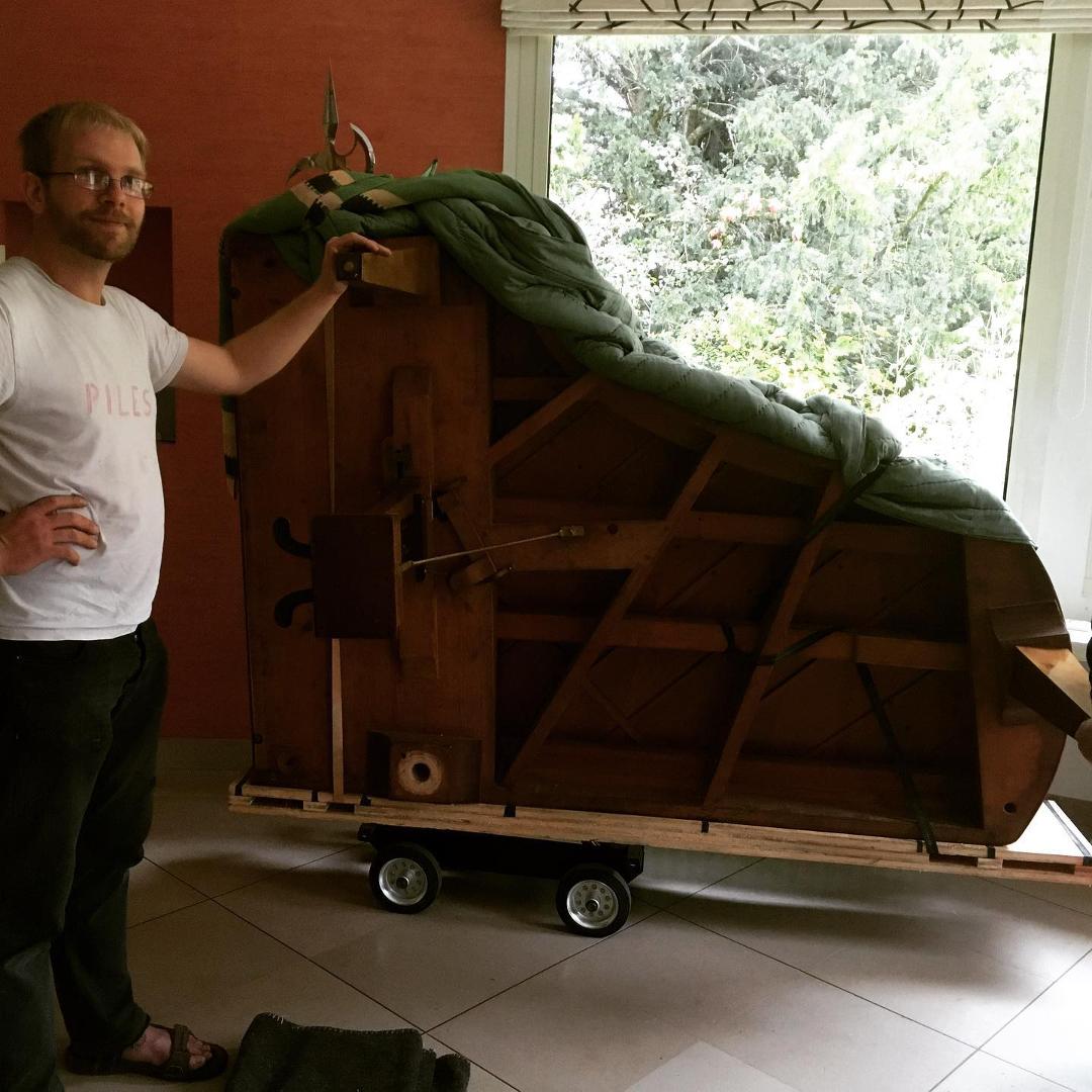 Livraison du piano PLEYEL à Selongey (21)